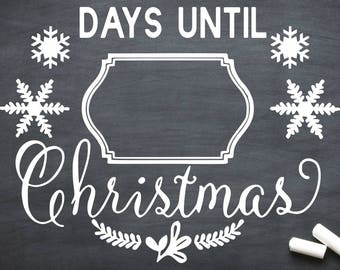 How Many Days Till Christmas From Today.Days Until Christmas Etsy