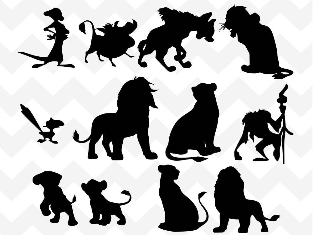 Disney Bundle SVG Lion King SVG Simba Svg Narbe Svg Timon | Etsy