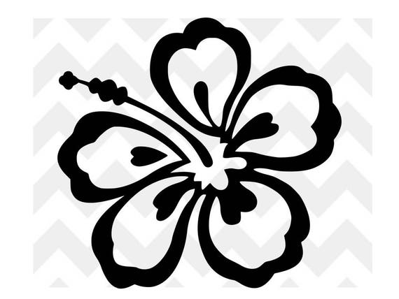 Svg Hibiscus Fleur Dhibiscus Fleur Hawaienne Hawaii Etsy
