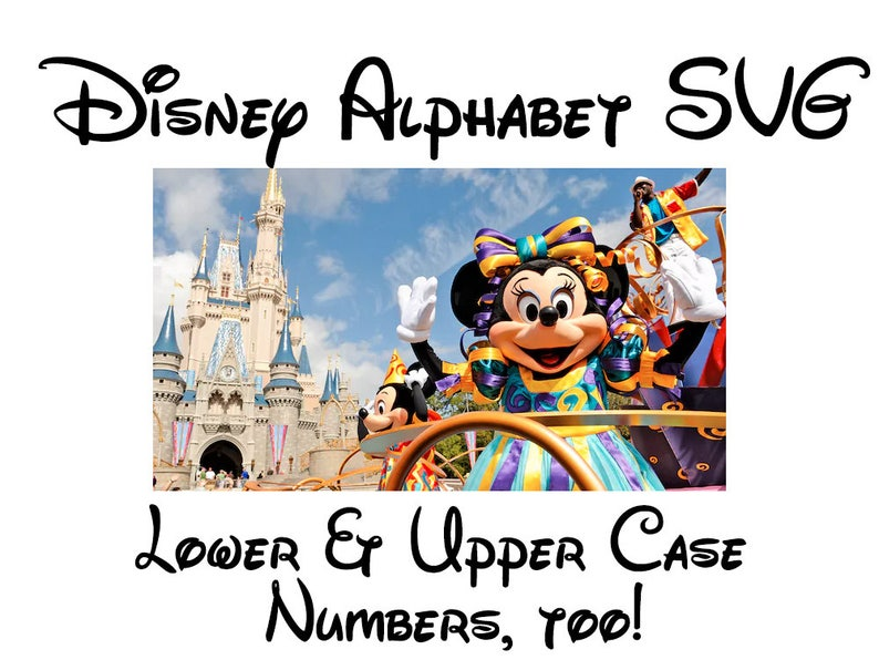 Disney Font SVG | Walt Disney Font SVG | Disney World Font SVG | Disney  Alphabet svg | Disney svg | Disney cut file | Silhouette Cricut