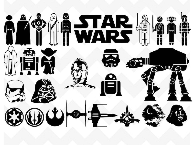 Star Wars Svg Star Wars Svg Bundle Disney Svg Princess Etsy