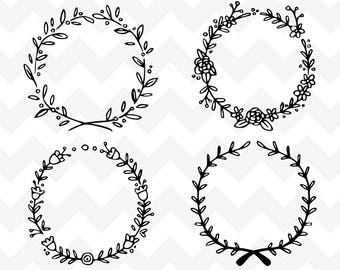 Floral Wreath SVG | Wreath SVG | Wreath Bundle SVG Cutting File | Cutting File | Silhouette | Laurel Wreath Bundle svg | Wreath svg