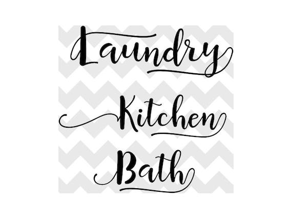 Kitchen Svg Laundry Svg Bath Svg Home Svg Bundle Etsy