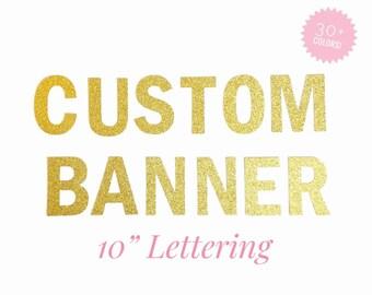glitter name banner etsy
