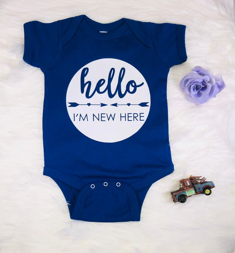 Baby Shower Gift Hello Im New Here Newborn Boy Coming Home Outfit Unisex Baby Clothes Cute Baby Clothes Girl Take Home Outfit