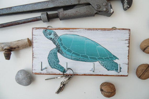 Turtle Key Holder For Wall Rustic Key Holder For Wall Key Etsy
