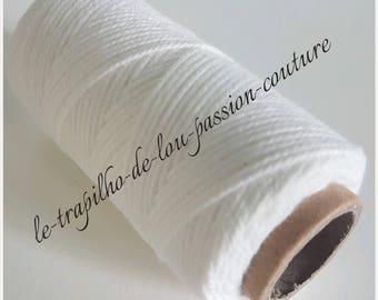 Reel 50 m 100% cotton white cord