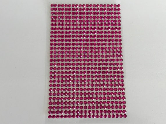 Plaque de 560 strass cabochon 3mm autocollants Rose