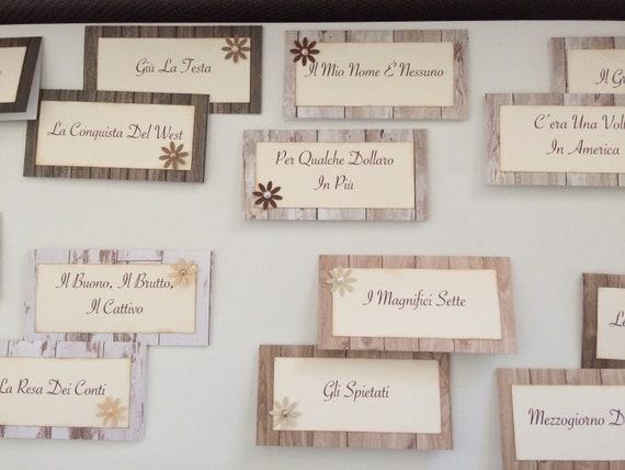 Segna tavolo matrimonio rettangolare nomi film etsy