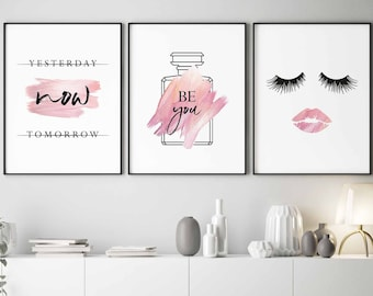 Pink bedroom decor | Etsy