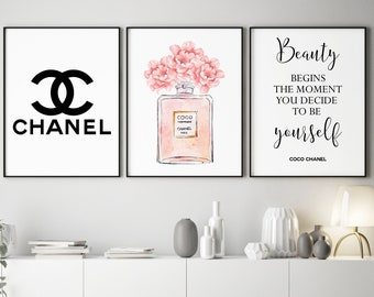 Coco Chanel Poster Etsy