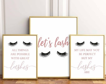8f5850f5a82 Lash studio decor,Lash extension,Beauty salon decor,Lashes Print,Lash Decor, Lashes,Lashes Studio,Lash room decor,My life may not be perfect