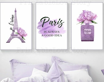 Purple Bedroom Decor Etsy