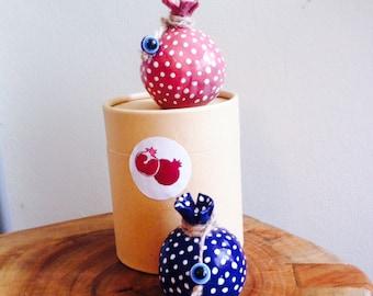 handmade ceramic pomegranate