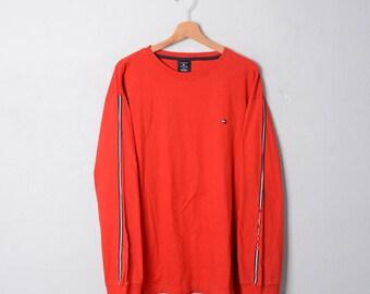TOMMY Hilfiger SPORT Polo shirt t shirt TG L E216 | Etsy