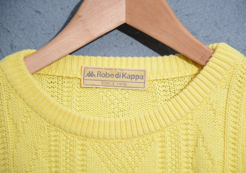 ROBE of KAPPA-knitted sweater casual 90s vintage TG 46 E50