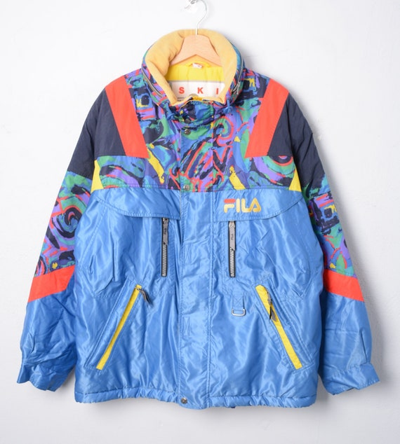 FILA SKI TEAM ITALIA L XL vintage giubbotto jacket coat coat