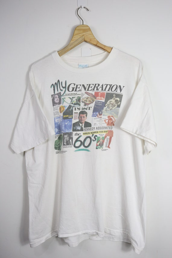 Vintage My Generation history's of 60s t-shirt (XL