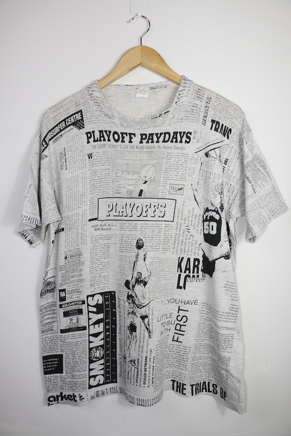 Vintage Newspaper Playoff paydays t-shirt