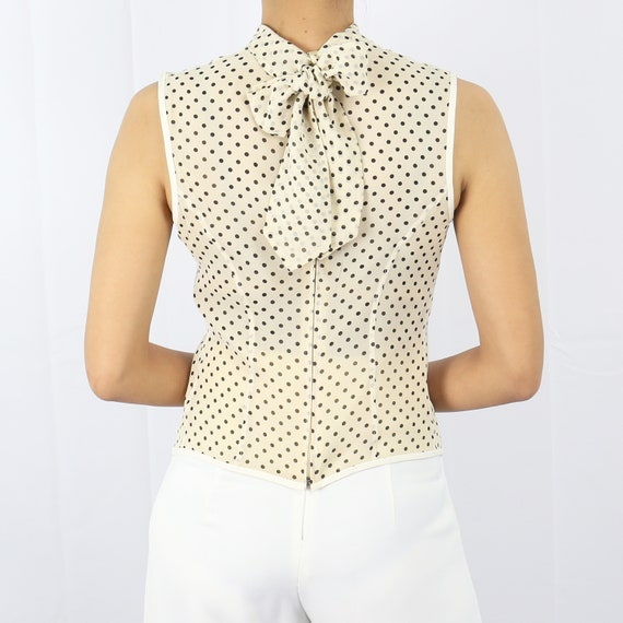 Paul Smith polka dot silk sleeveless top