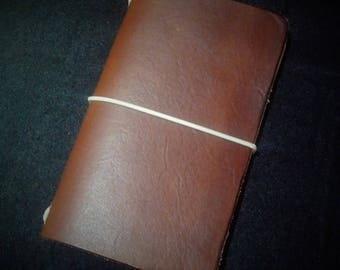Leather Moleskine Cahier/Field notes note book cover. Handmade, gift, Christmas, Journal, Third Anniversary