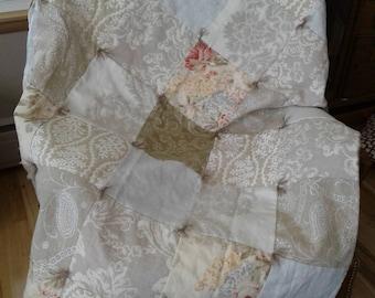 Designer Fabric/ Silk Quilt