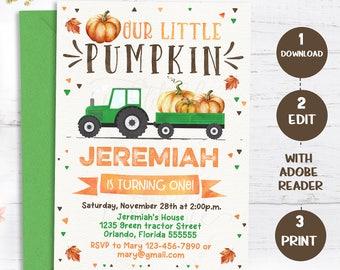 pumpkin invitation etsy