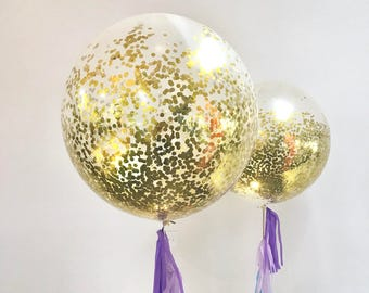 Gold Confetti Balloons // Giant 90cm pack of 1