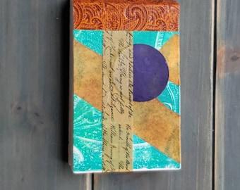 A Literary Explanation- Mini Art Journal,ARTSTART mini book - handbound, monoprinted, artist crafted art journal