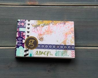 Amen- Mini Art Journal,ARTSTART mini book - handbound, monoprinted, artist crafted art journal