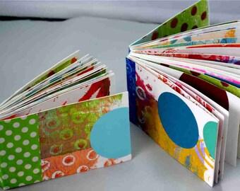 Art Journal,ARTSTART mini book - handbound, monoprinted, artist crafted art journal