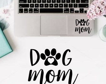 Dog Mom decal, Car Decal, Decals, Yeti Decal, RTIC Decal, Monogram Decals, Dog Decals, Animal Decals, Laptop Decal,