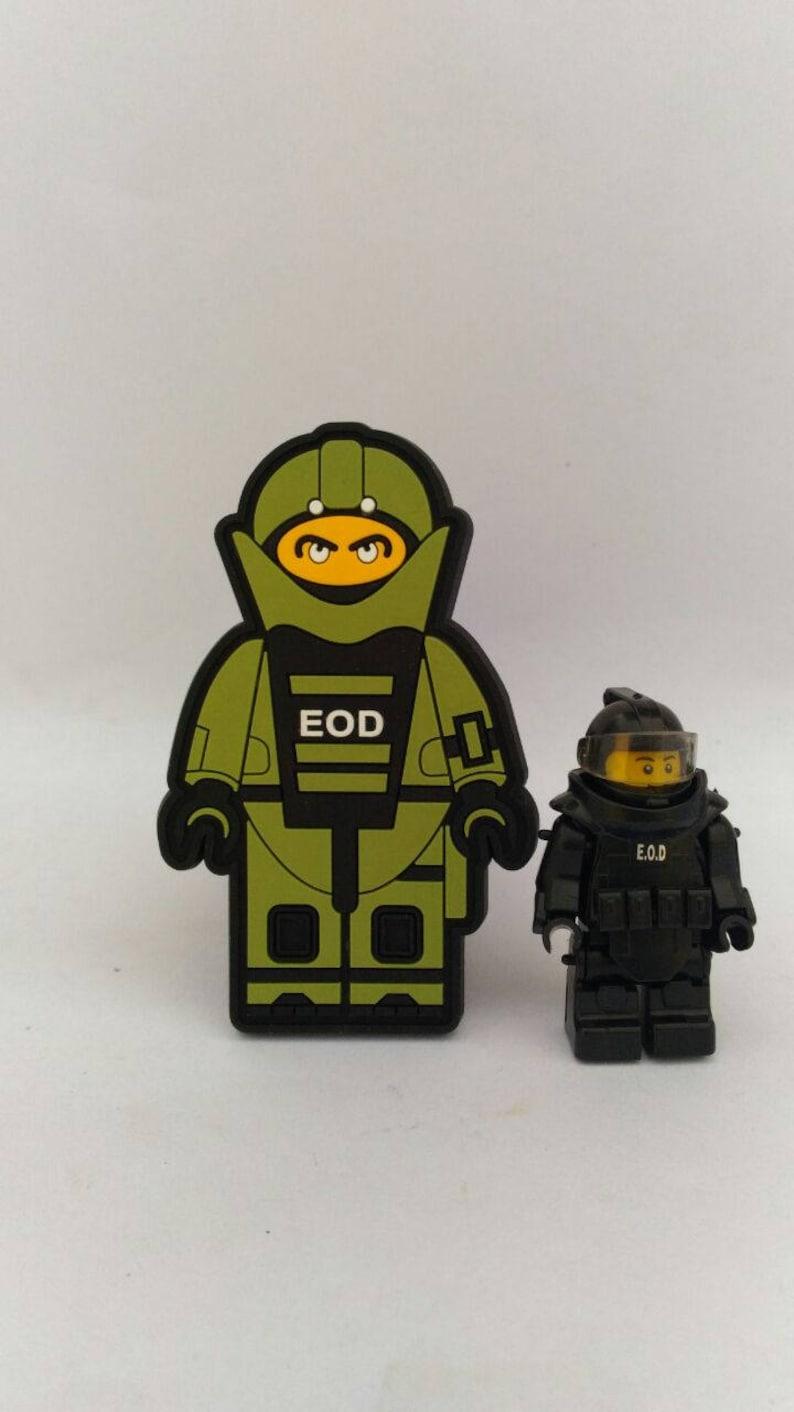 Benutzerdefinierte Eod Lego Militär Armee Polizei Moral Pvc Etsy