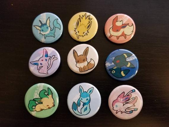 Pokemon Vaporeon pinback button 1.5\u201d