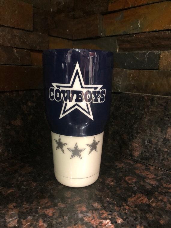 Dallas Cowboys Tumbler Cowboys Cup Cowboys Mens Tumbler Etsy