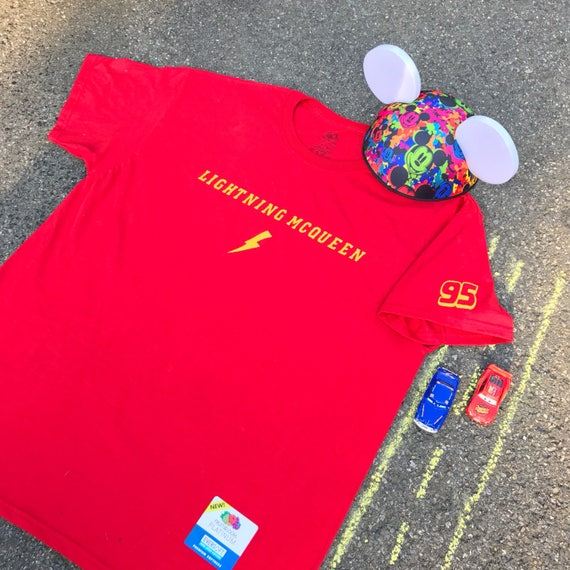 Disney Lightning McQueen Piston Cup Sleeveless T-Shirt Cars 3 Kids 2T 5T