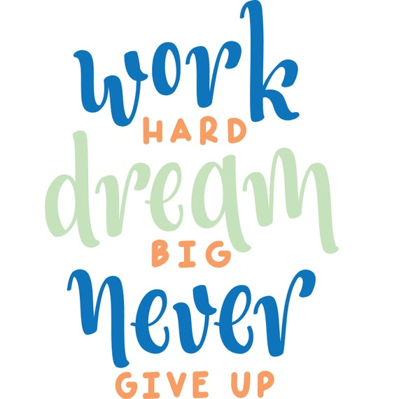 Dream Big Quote Wall Decal - Motivational Words For Kids Vinyl Art -  Colorful And Fun Decor For Playroom, Nursery, Boy And Girl Room CG556