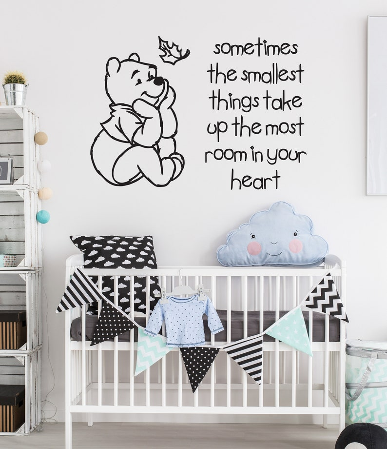 Vinyl Decal Quote Art Wall Sticker Inspirational Quotes Quote Winnie The Pooh Quote Braver Stronger Smarter For Nursery Kids Room Boys Girls Room