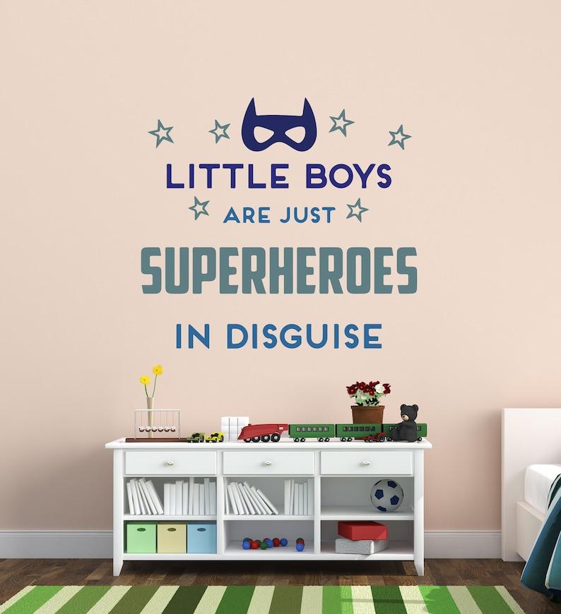 Superheld Wandtattoo Jungs sind Superhelden-Vinyl-Design für | Etsy