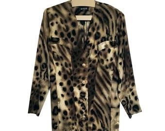 Vintage leopard print dress