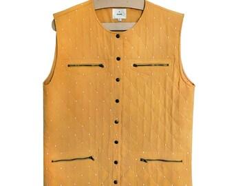 Vintage sleeveless jacket