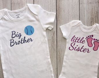 Little Sister Big Brother Outfit - Matching Sibling Outfits - Sibling Outfits - Big Bro Little Sis