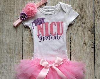 cf0eaa41de Baby Girl NICU Graduate Outfit - NICU Outfit in Lavender and Pink - Pink  Ruffle Tutu Bloomers - Newborn Photos - Preemie