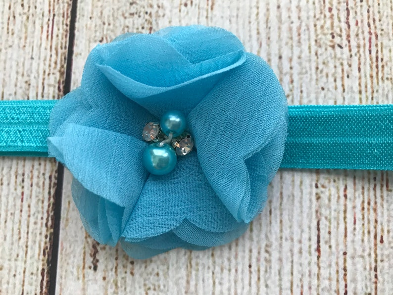 Newborn Photo Set Baby Girl Tutu Bloomer and Headband Set in Turquoise Blue Cake Smash Set Baby Shower Gift Diaper Cover