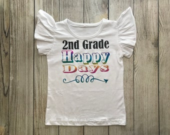 Back to school shirt - kindergarten, 1st, 2nd, 3rd, 4th, 5th any grade!
