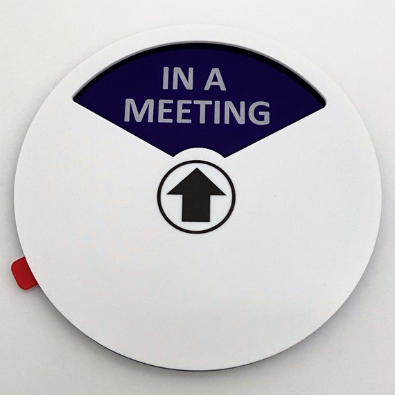 Jovitec Privacy Sign Office Sign Include in a Meeting Sign Welcome Please Knock Sign Do Not Disturb Sign Out of Office Sign for Home Office Supplies Color 2, 5.9 Inches