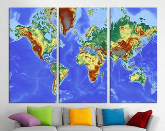 World map stretch canvas etsy uk world travels map canvas wall map prints on canvas modern world map stretched canvas map home dcor multi panel canvas canvas print art gumiabroncs Images