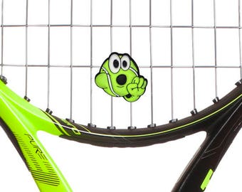 Obscene Gesture Suck It Tennis Racket Vibration Dampener 2-Pack by Racket Expressions. Great tennis gifts for men!