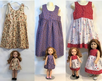Dollie /& Me Girls Knit Tutu Printed Legging Set and Matching Doll Outfit 4-Piece Set Casual Dresses