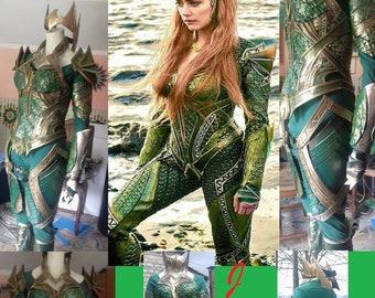 Mera inspired aquamen costume cosplay